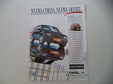 advertising Pubblicità 1988 OPEL CORSA GT
