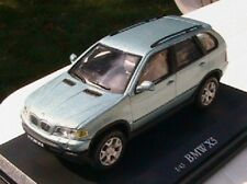 BMW X5 BLEUE VERTE METAL OLIEX 1/43 NEUVE EN BOITE GRUN BLAU CARARAMA