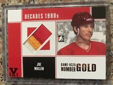 In The Game ITG Vault Decades 1980s Joe Mullen Jersey Number Patch 1 Of 1 Flames