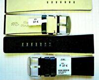 1 Bracelet ZRC 26 mm NOIR FAIT MAIN strap handmade band racing watch cuir