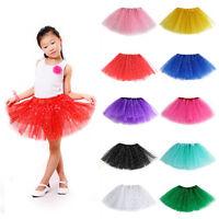 Girls Tutu Ballet Dance Dress Wear Party skirt One Size for Kids Custume