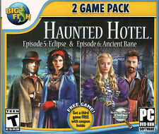 HAUNTED HOTEL Episodes 5 & 6: ECLIPSE + ANCIENT BANE Hidden Object PC Game NEW