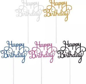 Kuchen Topper Happy Birthday Geburtstag Torte Deko verschiedene Farben