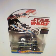 Star Wars Character Cars Resistance Ski Speeder Hot Wheels The Last Jedi NIP