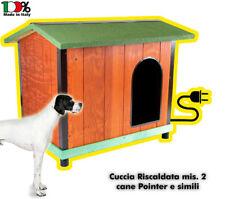 Cuccia RISCALDATA coibentata in legno mis. 2 - Per cani Setter, Buldog e simili.