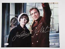 William Shatner Joan Collins Signed Autograph JSA Star Trek Kirk 11 x 14