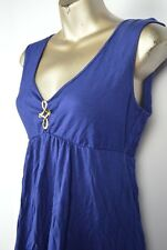 Trina Turk Jersey Swim Dress Cover M Medium S Small Blue Gold