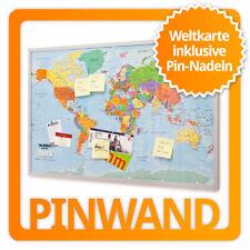 XXL Pinnwand Weltkarte - Cork Memotafel Memobard Korktafel Notizboard 90x60cm