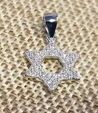 925 STERLING SILVER & MICRO PAVE CZ STAR OF DAVID PENDANT