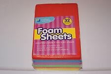 New 32 Rainbow Rectangle Sheet Kids Craft Project Teacher Foam Free Shipp! Bcr