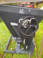 New Skidsteer skid steer hydraulic salt sand fertilizer spreader hopper