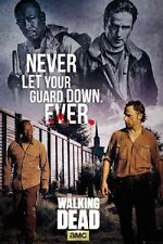 24x36 WALKING DEAD POSTER NEVER LET YOUR GUARD DOWN rolled shrink wrapped