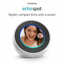 Amazon Echo Spot Smart Speaker & Alexa Voice Recognition & Control, White NEW !!