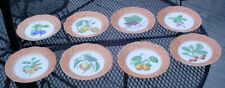 "MOTTAHEDEH VISTA ALEGRE PORTUGAL SUMMER FRUIT 8"" SALAD DESERT PLATE SET  N/R"