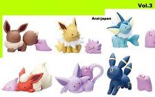 Ditto Metamon Vol.3 Pokemon center small Figure x all 6 gacha toy Japan eevee