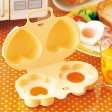 Double Hearts Egg Steamer Cooking Flowers Mold Microwave Oven DIY Kitchen Tool