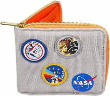 OFFICIAL NASA SPACE CORPS COTTON ZIPPED MENS WALLET NEW IN GIFT BOX