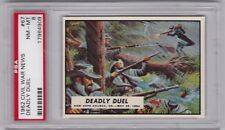 1962 Topps Civil War News Trading Cards, Deadly Duel #67, PSA 8 NM MT