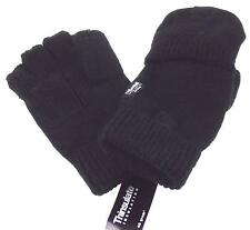 Black Wool Convertible Gloves 3M Thinsulate Insulation Mens One Size Structure