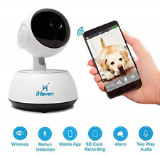 iHaven Pet Cam Wifi Camera Indoor with App Monitor Cat Dog Cameras for Home Baby