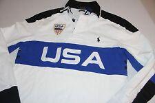 Ralph Lauren Cotton Rugby Polo USA Shirt Medium M  Custom Fit