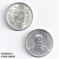 Schweiz 5 Franken Silber 1951 1953 1966 1967 1969 Switzerland Silver