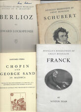 5 books Composers - Chopin Berlioz Franck Schubert Elgar English Symphonists etc