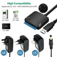 """USB 3.0 to 2.5"""" 3.5"""" SATA SSD HDD Hard Drive Disk Adapter Cable Wire Converter"""