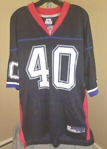 Buffalo Bills NFL Rebook Classic Blue Brown #40 Large Personalized Jersey
