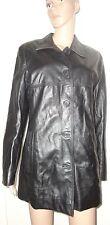 Noir Taille 16 100% Cuir Veste/manteau, Euro 44, Ws, longueur de hanches