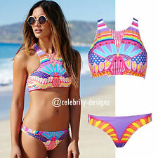 Polyester Geometric Swimwear for Women