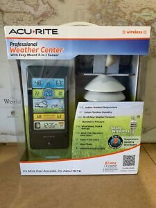 00439DIA1 Acurite Professional Weather Center with 3-in-1 Wireless Sensor NEW!