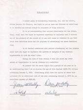 1968 Dave McNally Baltimore Orioles SIGNED CONTRACT 1969 CITGO COINS AUTOGRAPHED