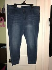 Rue 21 Plus Size 18 Vintage Wash High Waisted Jeggings In Short