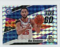 2019-20 Ben Simmons Panini Mosaic #2 Give And Go Silver