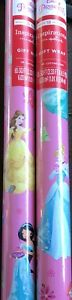 Disney Princess Gift Wrapping Paper 65 sq ft  Princesses Wrap 1 roll