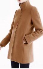 JCrew Tall  Lodge Coat Italian Stadium Cloth Wool Insulated 8T Brown H2781 $350