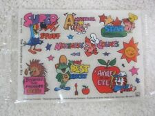 1980's Kellogg Cereal Giveaway Premium MIP Rub on Transfers Fruit Loops More T93