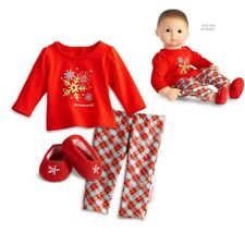 """American Girl BITTY BABY  SNOWY DREAMS PAJAMAS IN BOX for 15"""" Dolls Clothes NEW"""