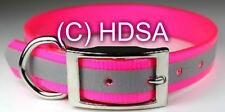 "Dog Collar 1"" Reflective Hi Visibilty - Pet / House / Night Walking -  Neon Pink"
