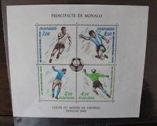 """FRANCOBOLLI MONACO 1982 """"MONDIALI DI CALCIO - SPORT"""" MNH** BLOCK (CAT.SC)"""