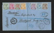 ST HELENA TO GERMANY SPECTACULAR COVER 1901