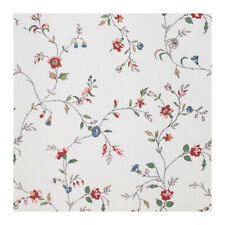 IKEA LJUSOGA Shower Curtain Fabric WHITE FLORAL PINK Multicolor Flowers - NEW