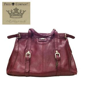 Danish designed Friis & Company large Burgundy bag