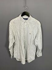 RALPH LAUREN YARMOUTH Shirt - Size 16.5 - Striped - Great Condition - Men's