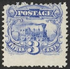 US Sc# 114 *MINT NO GUM H* { 3c BLUE LOCOMOTIVE } NICE PICTORIAL ISSUE FROM 1869
