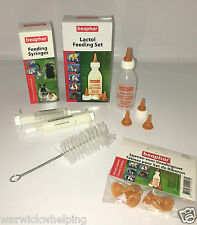 Beaphar Botella Tetinas, las tetinas de repuesto y paquete de 2 Jeringa Para Animales Pequeños Cachorro Gatito