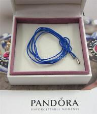 PANDORA | GENUINE Blue String Cord Silver Ends Bracelet / Necklace 390961CBE-100