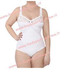 Body donna contenitivo modellante coppa D MADE IN ITALY in cotone e microfibra