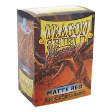 Dragon Shield Matte Red 100 Deck Protective Sleeves in Box